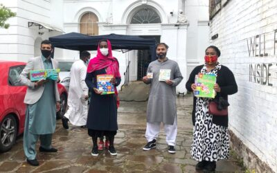 Handing out Eid Gifts at Stockwell Green Mosque