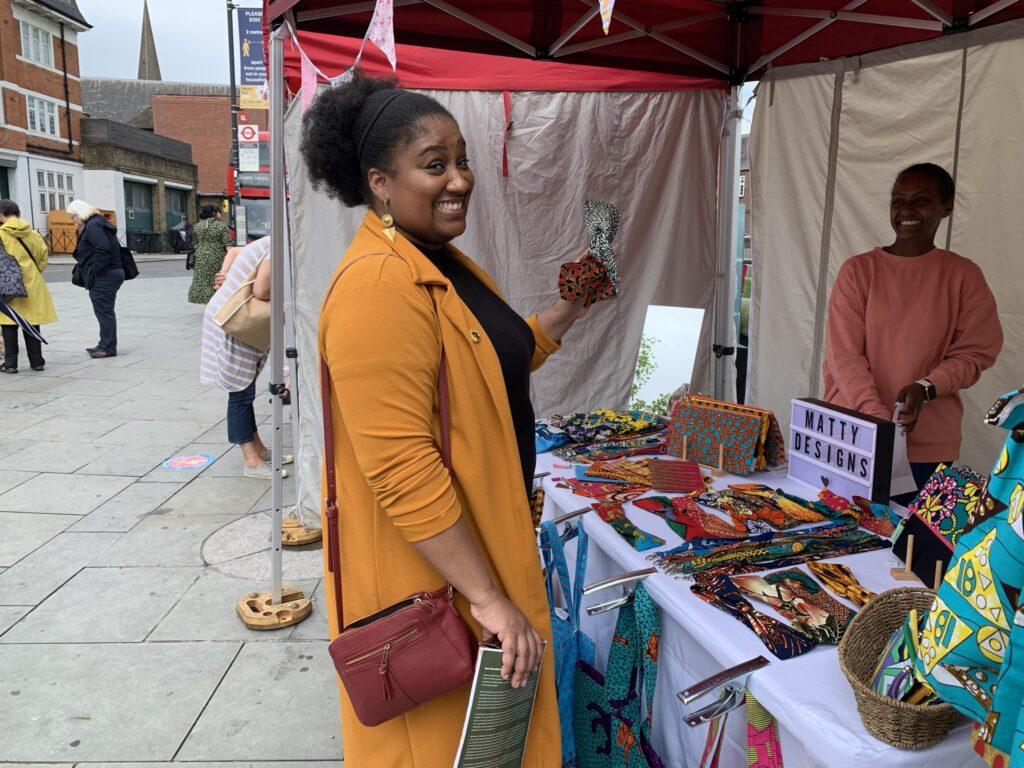 Browsing Streatham Food Festival market