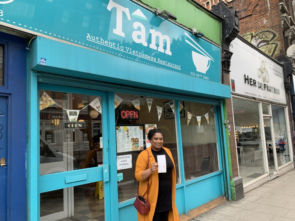 Collecting my stamps at Tam Vietnamese restaurant